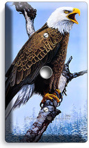 American Bald Eagle In The Wild Light Dimmer Cable Wall Plate Home Room Hd Decor - $9.89
