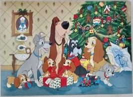 Vintage Lady Tramp Poster Walt Disney Productions Christmas circa 1960's... - $14.84