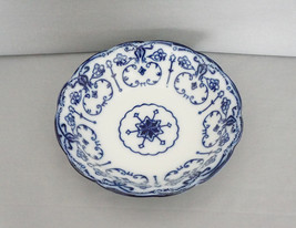 "New Wharf Pottery Flow Blue CONWAY Pattern 9"" Serving Dish Bowl - $59.95"