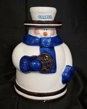 OREO SNOWMAN CERAMIC COOKIE JAR (CIRCA 2000) - $14.85