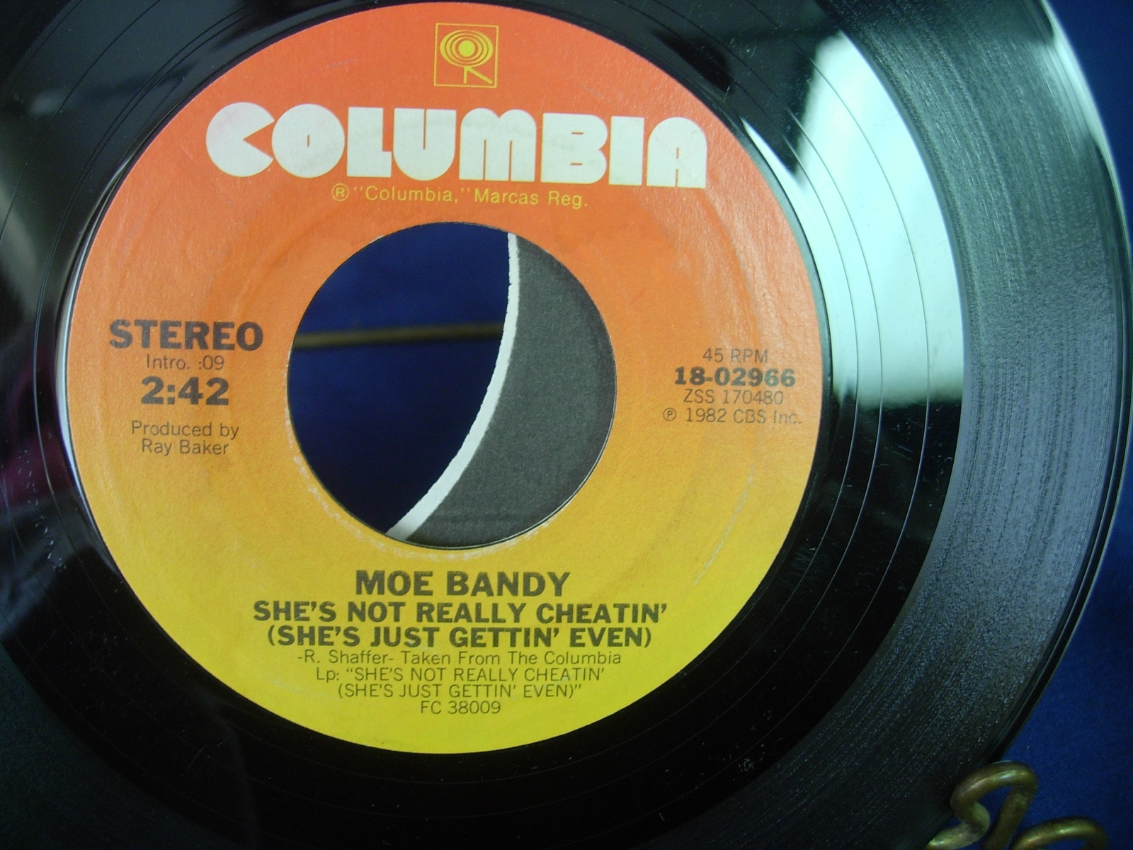 Moe Bandy - All American Dream / She's Not Really Cheating - Columbia 18-02966