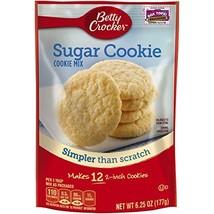 Betty Crocker Baking Mix, Sugar Cookie Mix, 6.25 Oz Pouch Pack of 9