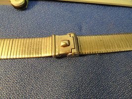 VINTAGE 16MM FORSTNER KOMFIT LONG NASA STYLE STAINLESS STEEL WATCH BAND ... - $125.00