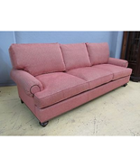 Henredon Custom Upholstery Fireside Oversized Red Sofa H2000-C - $2,999.00