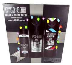 AXE Black Holiday Gift Set, Body Spray, Body Wash, Shampoo + Conditioner - $34.79