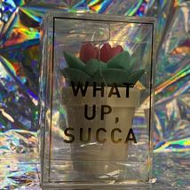 New In Box Taste Labs Vanilla Flavored WHAT UP SUCCA Succulent Lip Balm W Aloe image 3