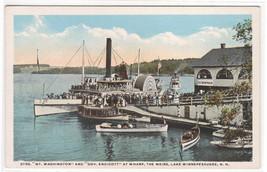Steamer Mt Washington Wharf The Weirs Lake Winnepesaukee NH 1920s postcard - $5.89