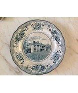 ANTIQUE BUFFALO POTTERY MT. VERNON BLUE & WHITE PLATE c1903 - $5.00