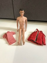 Vtg 1960 Mattel USA Barbie Ken Allen Doll Molded Brown Hair Straight Leg... - $24.70