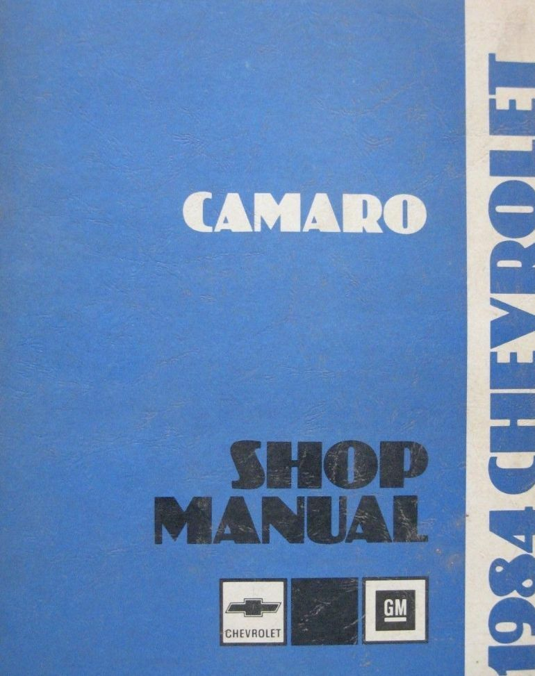 Primary image for 1984 GM Chevrolet Chevy Camaro Service Shop Repair Workshop Manual OEM Book