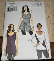 Vogue Pattern V8856 Top Tunic Seam Detail or Drape New Factory Folded * - $9.88