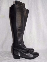 Micheal Kors Black Leather Stretch KNEE HIGH Boots 5.5M For Women Used - $89.09