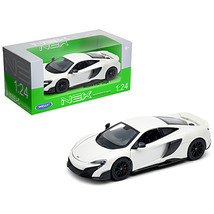 McLaren 675LT Coupe White 1/24-1/27 Diecast Model Car by Welly 24089W - $31.10