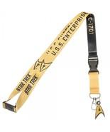 Star Trek Kirk Yellow Member U.S.S. Enterprise ID Badge Holder Keychain ... - $12.00