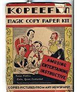 1935 Embree Mfg Toy KOPEEFUN Magic Copy Paper Kit Compl - $34.99