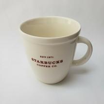 Starbucks Coffee Mug White Red Large Est 1971 Tea Cup Logo 18 fl oz 532 ml 2007 - $39.55