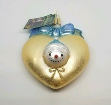 Old World Christmas Ornament 2015 Baby's First Christmas Heart Nwt In Box - $19.79