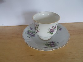 Crown Staffordshire Fine Bone China Violet Cup And Saucer  - $9.99