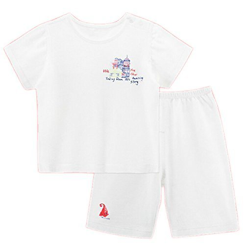 WHITE Infant Short Slevees&Shorts 2 Pieces Baby Toddler Underwear Set 6-9M