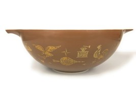 Pyrex American Heritage Americana Cinderella Mixing Bowl 444 Brown 4 QT ... - $14.80