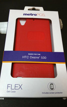 MetroPCS Phone Case for HTC Desire 530 Flex Gel case Red Valentines day ... - $12.86