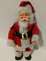 Santa Claus Figure Doll 14 Inch Vintage Mid Century Modern  - $25.19