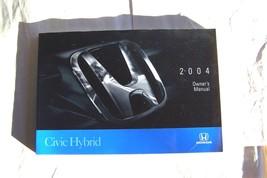 2004 honda civic hybrid owners manual new original - $10.88