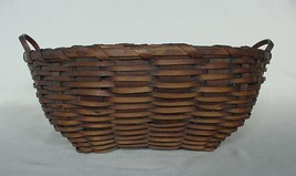 BEAUTIFUL ANTIQUE WOVEN BASKET WITH DOUBLE HANDLE - $45.00