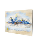 United States Navy Blue Angels Jet Water Color Design 16x20 Aluminum Wal... - $59.35