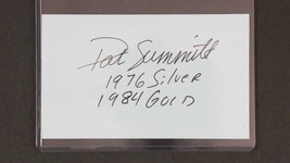 Pat Summitt (d. 1986) Signed Autographed Signature card - $79.99