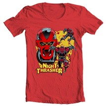 Night Thrasher Graphic T Shirt Marvel Comics New Warriors retro red cotton tee image 1