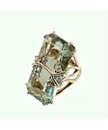 Fashion Vintage Emerald Peridot Gold Gem Plated Ring Women Men Wedding Sz6-10 Wo - £7.02 GBP