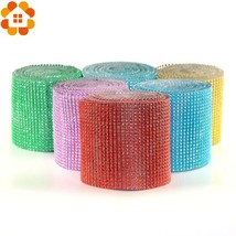 1Yard/91.5MM 20Colors Mesh Trim Bling Diamond Wrap Cake Roll Tulle Cryst... - £6.67 GBP