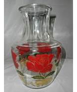 Anchor Hocking Juice Carafe Pitcher Decanter Swanky Rose Vintage Kitchen... - $19.79