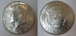 1968 D Uncirculated Kennedy Half Dollar CP2005 - $4.75