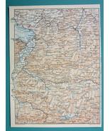 """1905 MAP Baedeker - LICHTENSTEIN & Western Austria Alps 6 x 8"""" (15 x 20 cm) - $6.08"""