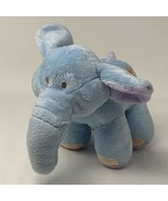 Babies r Us Plush Blue Elephant Brahms Lullaby Musical Toy Pull Tail Sou... - $12.50