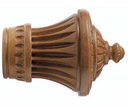 "Kirsch Wood Trends Classics Charleston Finial, for 1-3/8"" pole, Estate Oak - $36.98"
