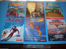 Lot Of (6) ORIGINAL NOS VIDEO ARCADE GAME FLYERS ALPINE RACER FUR LONG s... - $10.64