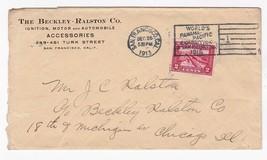 BECKLEY RALSTON CO SAN FRANCISCO CA DECEMBER 25 1913 PANAMA PACIFIC EXPO... - $4.48