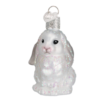 OLD WORLD CHRISTMAS BABY BUNNY GLASS CHRISTMAS ORNAMENT 12365 STYLE 2 - $8.88