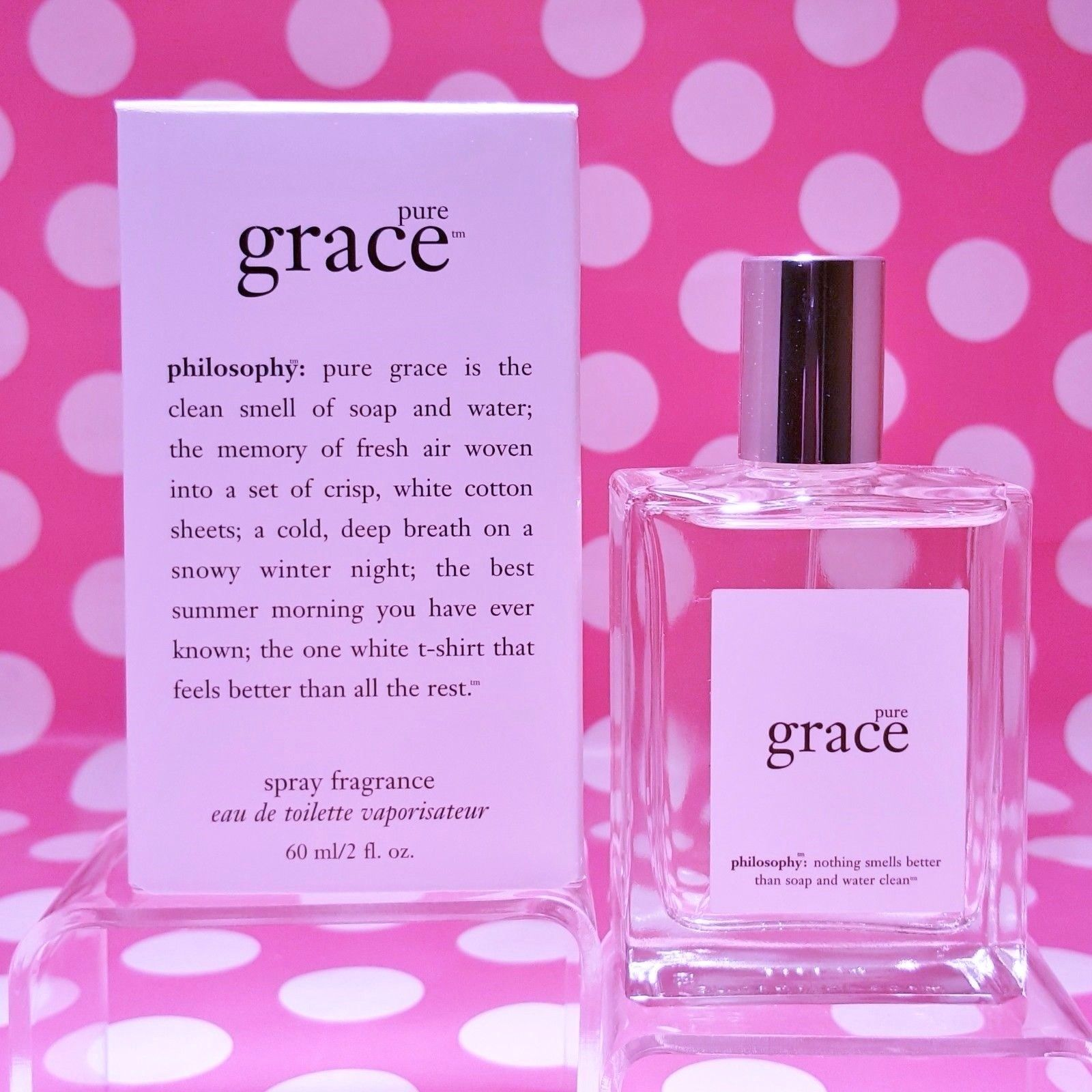 Primary image for PHILOSOPHY PURE GRACE EAU DE TOILETTE 2 OZ DISTRIBUTED BY PHILOSOPHY IN BOX
