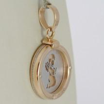 Pendant Rose Gold Medal White 750 18k, Round, Guardian Angel in Prayer image 2