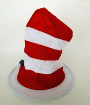 Dr. Seuss The Cat in the Hat White and Red Striped Hat Adult Size by Elope - $12.99