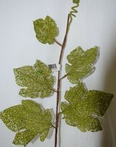 Unbranded Grape Leave Tendril Curly Q's Glittery Green image 4