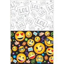 LOL Emoji Plastic Tablecover 54 x 96 Birthday Party - $7.21
