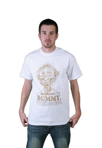 Milkcrate Athletics Mens Bummy White Gold T-Shirt NWT