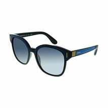 Prada Catwalk PR 05US SUI3A0 53 Black Blue Plastic Sunglasses Blue Gradi... - $405.90
