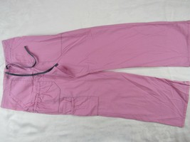 "Women's Scrubs Uniform Pink Pants Inseam 31"" Size XS - $12.89"