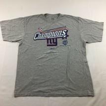 NFL 2007 NFC Conference Champions New York Giants Reebok Mens T-Shirt Gray L - $19.75